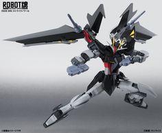 Robot Damashii Strike Noir Gundam about Information and News for Gundam, Figures also in Gundam Century: Robot Damashii Strike Noir Gundam Strike Gundam, Gundam Seed, Robot Concept Art, Mobile Suit, Stargazing, Fighter Jets, Action Figures, Japan, Manga