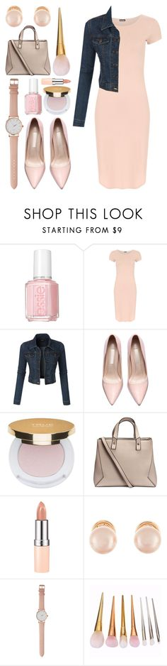 """Pink Lady"" by meaganmuffins on Polyvore featuring Essie, WearAll, LE3NO, Isaac Mizrahi, H&M, Rimmel, Kenneth Jay Lane, women's clothing, women and female"