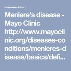 meniere s disease symptoms diagnosis and treatment Meniere's disease affects the inner ear causing ear fullness, ringing and loss of hearing there will be constant spinning motion inside the ears and pressure.