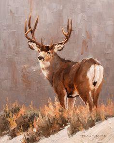 Wildlife Paintings, Wildlife Art, Deer Art, Moose Art, Mule Deer Hunting, Deer Head Silhouette, Bachelor Of Fine Arts, Southwest Art, Animals Of The World