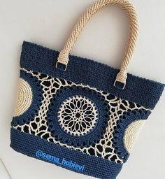 Doilies Updated - Her Crochet Free Crochet Bag, Mode Crochet, Knit Crochet, Crochet Bags, Crochet Handbags, Crochet Purses, Handmade Handbags, Handmade Bags, Macrame Bag