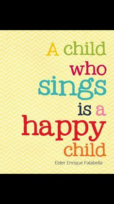 Do you have a child singer?
