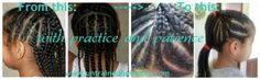 Black kids hairstyles: Learning to Cornrow Hair Takes Practice and Patien. Black Kids Hairstyles, Cornrows, Black Hair, Dreadlocks, Long Hair Styles, Learning Patience, Beauty, Hair Black Hair, Beleza