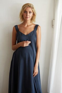 Lola Silk Dress. KIN Maternity