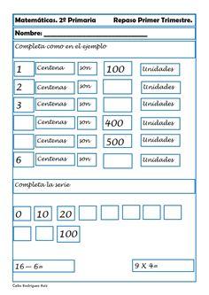 Fichas de matemáticas, Fichas primaria, Sumas, Restas, Números, recursos para el aula Kids Math Worksheets, Math 2, Math For Kids, Periodic Table, Classroom, Joseph, Harry Potter, Mary, Literacy Activities