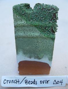 Clay Club: Crunch Green Glaze/ Beads over