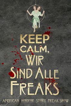"""AHS Freak Show"" promo/ ""We are all freaks"""