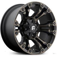 Fuel Vapor D569 Matte Black & Machined with Dark Tint Wheels & Rims
