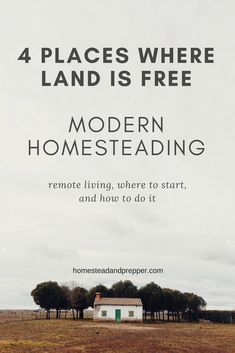 One of the hardest parts about homesteading in our current culture is finding the land. You may be thinking that it is impossible to get free land in today's world; however, there are many opportunities that offer exactly that. Before you believe that this is too good to be true, remember that it is not entirely free.