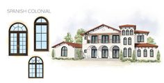 Spanish Colonial Home Style Window Door Overview