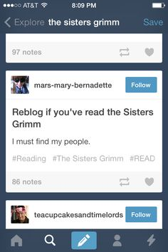The sisters Grimm. Who read this book? I loved the whole series. I read it a few years ago