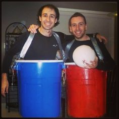 Beer Pong: A super fun and easy DIY Halloween costume for couples.