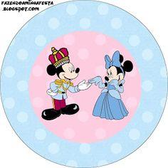 Mickey e Minnie Azul e Rosa para Gêmeos – Kit Completo com molduras para convites, rótulos para guloseimas, lembrancinhas e imagens! | Fazen...