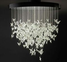 Check out the deal on butterfly recycled plastic chandelier at eco not like this but sort of and with butterflies aloadofball Images