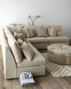 """""""Foster"""" Sectional & Ottoman - Horchow"""
