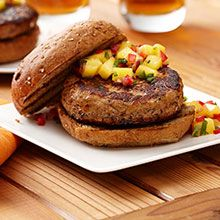 Surprise your family with this great tasting fresh mango chicken Caribbean burger recipe.