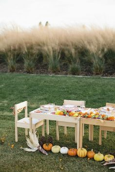THE KIDS' TABLE HAS NEVER LOOKED CUTER