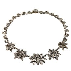 Brilliant Antique Cut Steel Floral Necklace | From a unique collection of vintage drop necklaces at http://www.1stdibs.com/jewelry/necklaces/drop-necklaces/