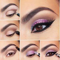 Sparkly Purple Eye Shadow Tutorial - Nadyana Magazine