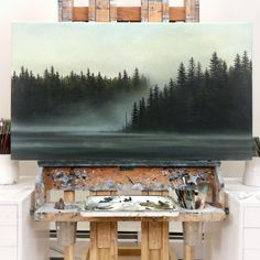 """@artistsarahmckendry shared a photo on Instagram: """"Missing the coast and all of the moody magic that it exudes... luckily I can paint it to life from afar to get my fix. This painting is…"""" • Jan 10, 2021 at 9:36am UTC"""