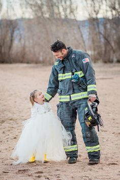 You'll Be Blown Away by This Beautiful Father/Daughter Firefighter-Themed Photo Shoot