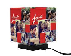 Fotolampada Quadrata con collage di foto