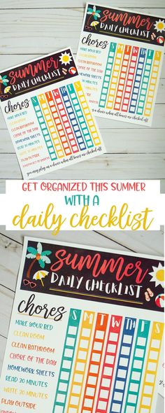 It's not too late to take back the house & chores this summer! Grab this free printable Summer Daily Checklist to help get organized and keep your house clean without losing any of the fun! Chore Checklist, Summer Checklist, Daily Checklist, Cleaning Checklist, Kids Checklist, Cleaning Routines, Cleaning Lists, Daily Schedules, Cleaning Schedules