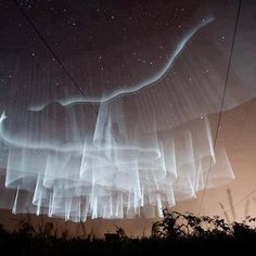 Amazing White Northern Lights as seen from Finland. / #EJCstyle #experimentaljewelleryclub