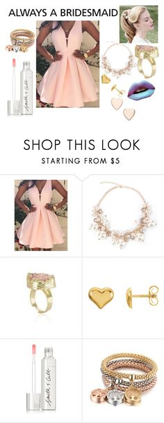 """Always a Bridesmaid"" by haylee-rose999 ❤ liked on Polyvore featuring Sephora Collection, Smith & Cult, Poppy Finch, gold, Pink and pastel"