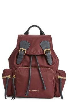 Absolutely adoring this nylon Burberry backpack that is effortlessly cool.