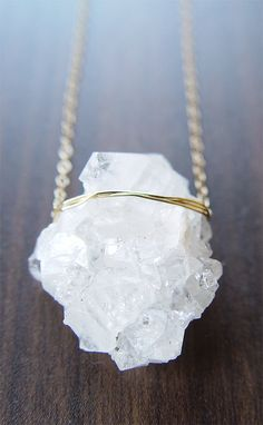 Vanilla Quartz Druzy necklace friedasophie