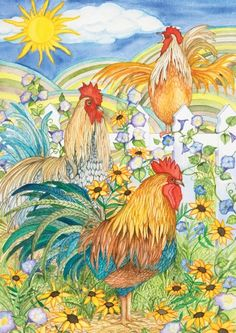 Good Morning House Flag - Chicken Garden Decorations: Presents for Chicken Lovers