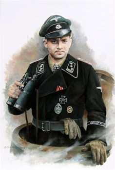 A beautiful drawing of Michael, used assault gun tactics of using treads and turret to turn faster on his many victims. Ww2 Uniforms, German Uniforms, Military Uniforms, German Soldiers Ww2, German Army, Military Art, Military History, Panzer Tattoo, Models