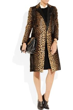 Joseph Nashville animal-print calf hair coat - 65% Off Now at THE OUTNET