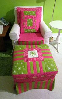Finished chair, pillows and ottoman   Explore Melody Johnson…   Flickr - Photo Sharing!
