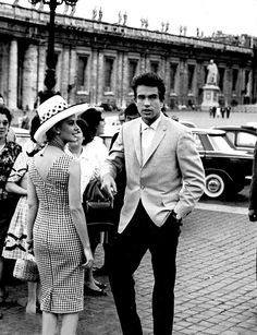 Natalie Wood and Warren Beatty in Rome, 1962