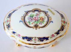Vintage Limoges France Footed Floral Porcelain by KillAnHour