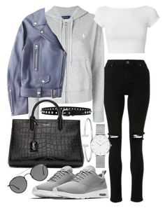 Untitled #22239 by florencia95 on Polyvore featuring Polo Ralph Lauren, Helmut Lang, Acne Studios, NIKE, Yves Saint Laurent, Daniel Wellington, Ray-Ban and Isabel Marant