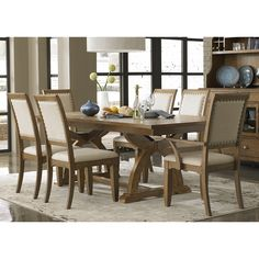 Enjoy a stylish and functional piece of furniture with this beautiful dinette set. A distressed sandstone with white powder glaze finish adds a classic touch to a beautiful accent.