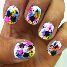 splatter paint!