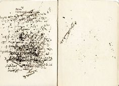 """Looks like someone 125-years ago used the blank pages of this book almost as blotter paper, to soak up the ""bleed-through"" from letter writing."" ,,,from accidental mysteries: What Remains......"