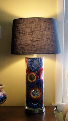 My ribbon lamp. Devon, Harrisburg, The Royal...many memories in one lamp.