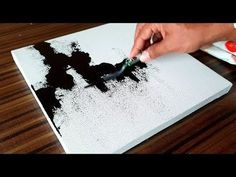 Easy Abstract Painting in Acrylics / Demonstration / Project 365 days / Day #040 - YouTube