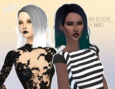 Miss Paraply: 4000+ Followers gift Newsea`s hairstyle retextured  - Sims 4 Hairs - http://sims4hairs.com/miss-paraply-4000-followers-gift-newseas-hairstyle-retextured/