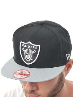 Grå Sort New Era NFL Cotton Block Oakland Raiders New Era Snap Back Kasket | New Era | FreestyleXtreme