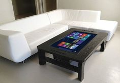 Giant Coffee Table Touchscreen Computer
