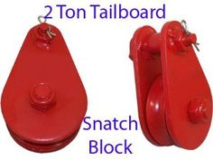 """2 Ton Tailboard Snatch Block Wire Rope Hoist Rigging 3"""" Pulley by Generic. $57.31"""