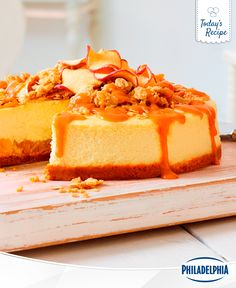 When you hear the grumble, think Apple Crumble Cheesecake. This silky smooth cheesecake is so good, it's two desserts in one.