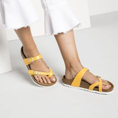 BIRKENSTOCK Mayari Birko-Flor in all sizes ✓ Buy directly from the manufacturer online ✓ All fashion trends from Birkenstock Birkenstock Outfit, Birkenstock Florida, Birkenstock Mayari, All Fashion, Fashion Trends, Amber, Espadrilles, Birkenstocks, Yellow