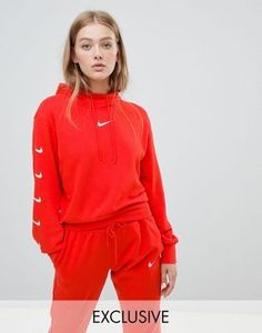Nike Exclusive To ASOS Short Hoodie Pack With Comma In Red  ASOS #comma #exclusive #hoodie #short